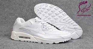 White leather sports shoes
