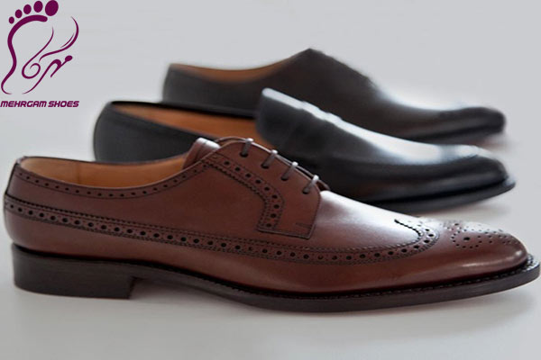 Men's leather medical shoes